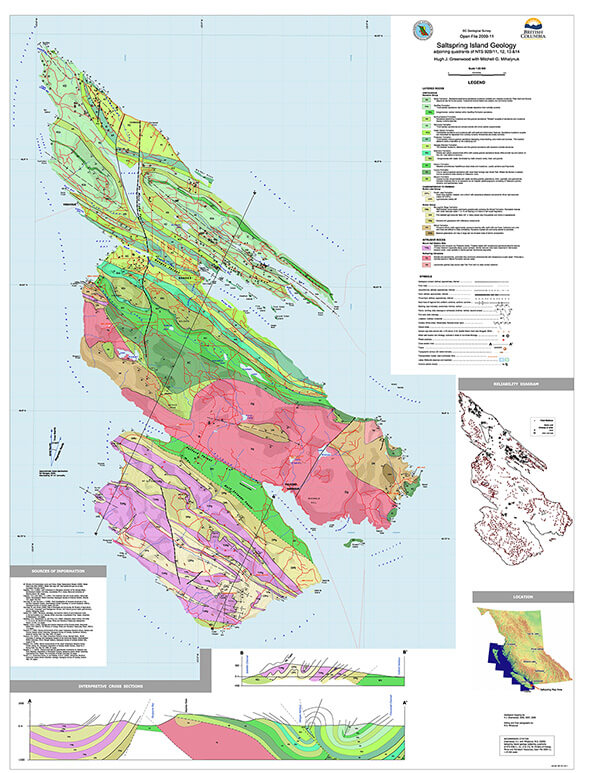Salt Spring - Geological Map
