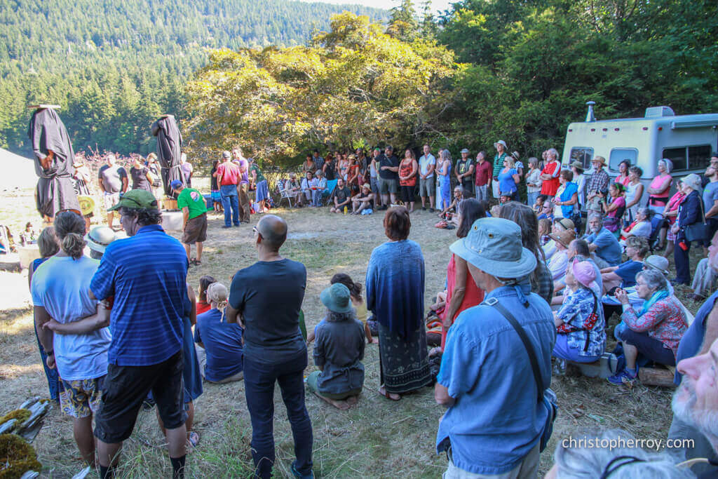 Salt Spring - 2016 Xwaaqw'um Burgoyne Bay Pole Raising Ceremony - 01