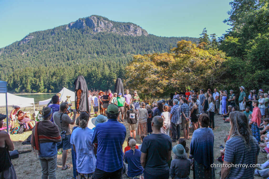 Salt Spring - 2016 Xwaaqw'um Burgoyne Bay Pole Raising Ceremony - 03