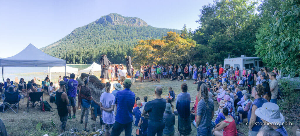 Salt Spring - 2016 Xwaaqw'um Burgoyne Bay Pole Raising Ceremony - 04