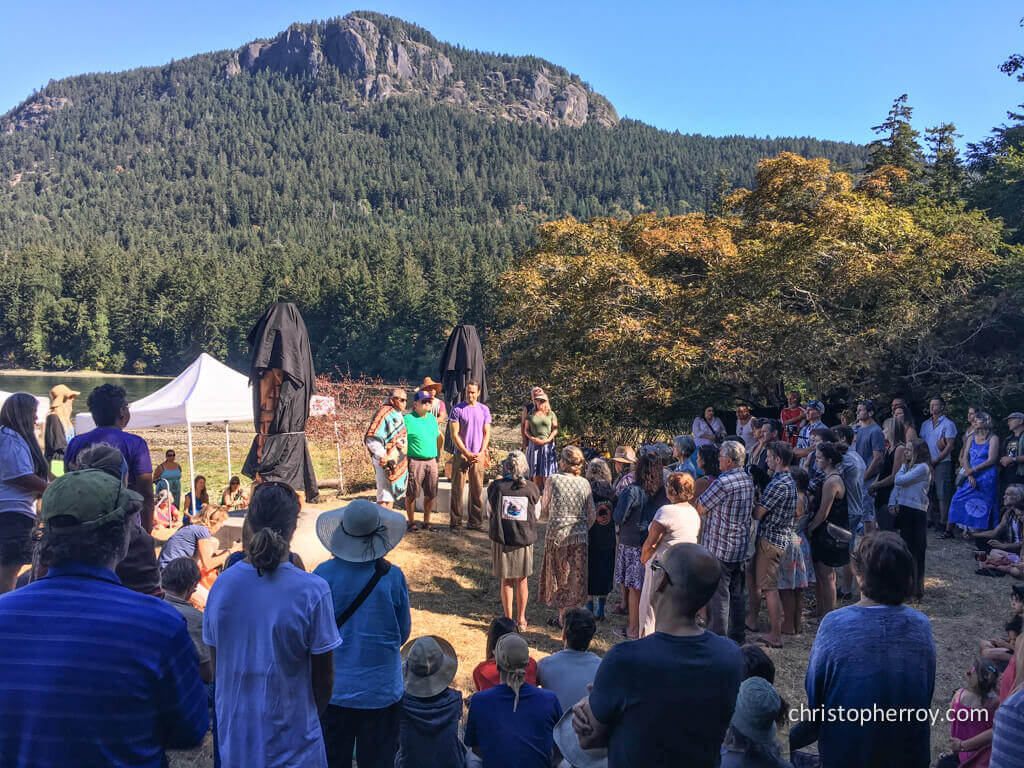 Salt Spring - 2016 Xwaaqw'um Burgoyne Bay Pole Raising Ceremony - 05