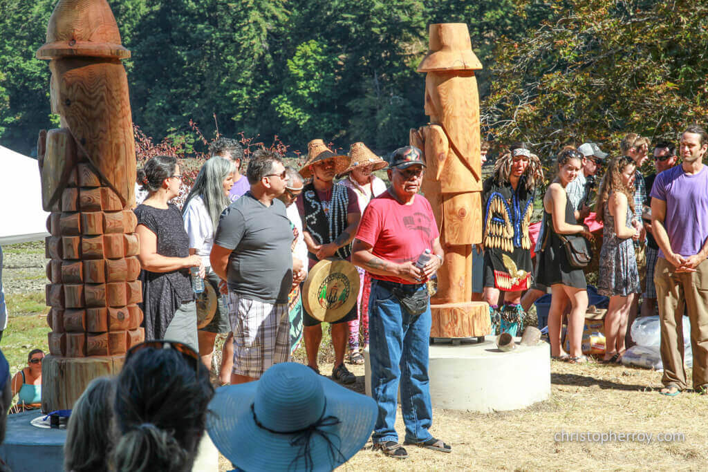 Salt Spring - 2016 Xwaaqw'um Burgoyne Bay Pole Raising Ceremony - 06