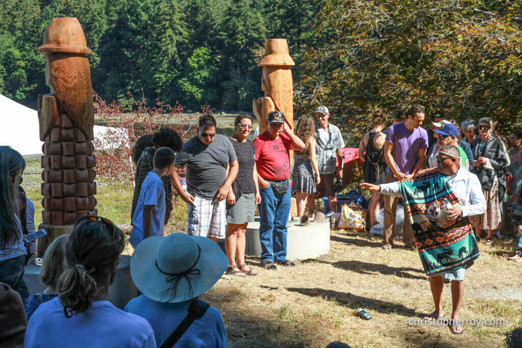 Salt Spring - 2016 Xwaaqw'um Burgoyne Bay Pole Raising Ceremony - 07