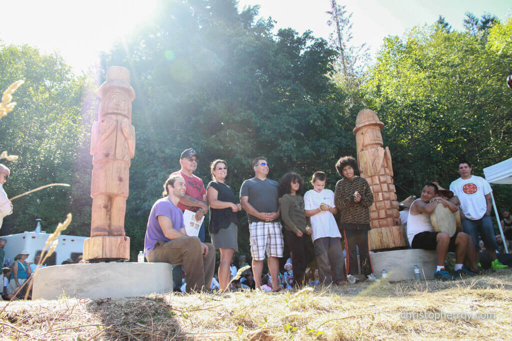 Salt Spring - 2016 Xwaaqw'um Burgoyne Bay Pole Raising Ceremony - 08