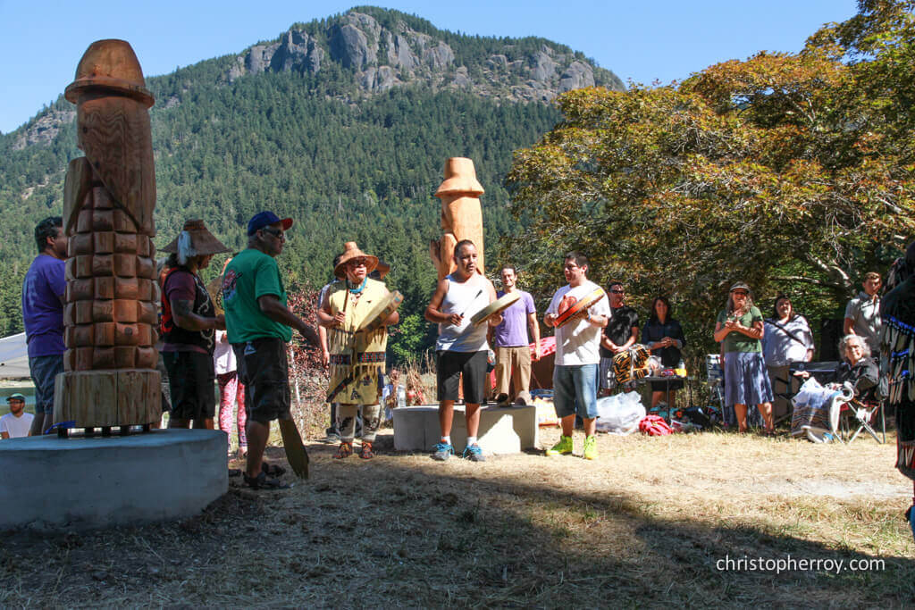 Salt Spring - 2016 Xwaaqw'um Burgoyne Bay Pole Raising Ceremony - 09
