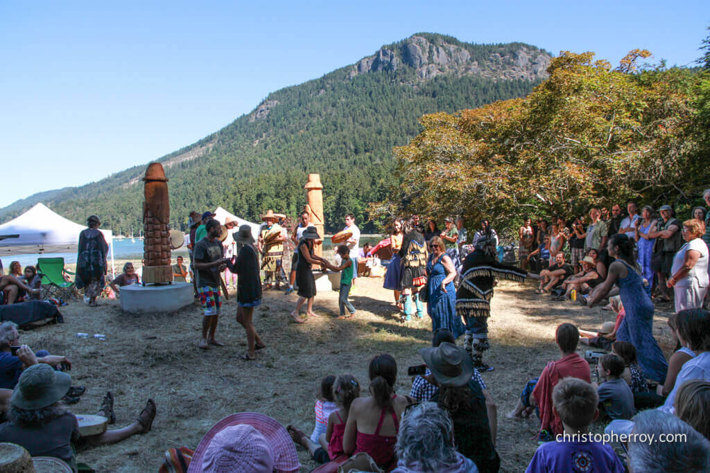 Salt Spring - 2016 Xwaaqw'um Burgoyne Bay Pole Raising Ceremony - 10