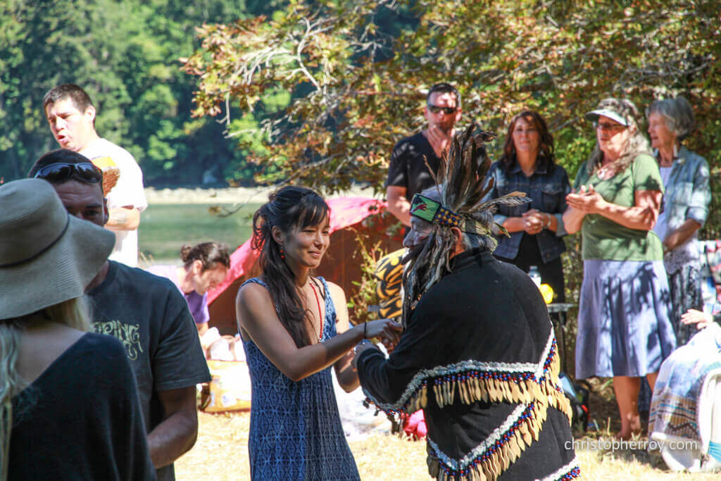 Salt Spring - 2016 Xwaaqw'um Burgoyne Bay Pole Raising Ceremony - 11