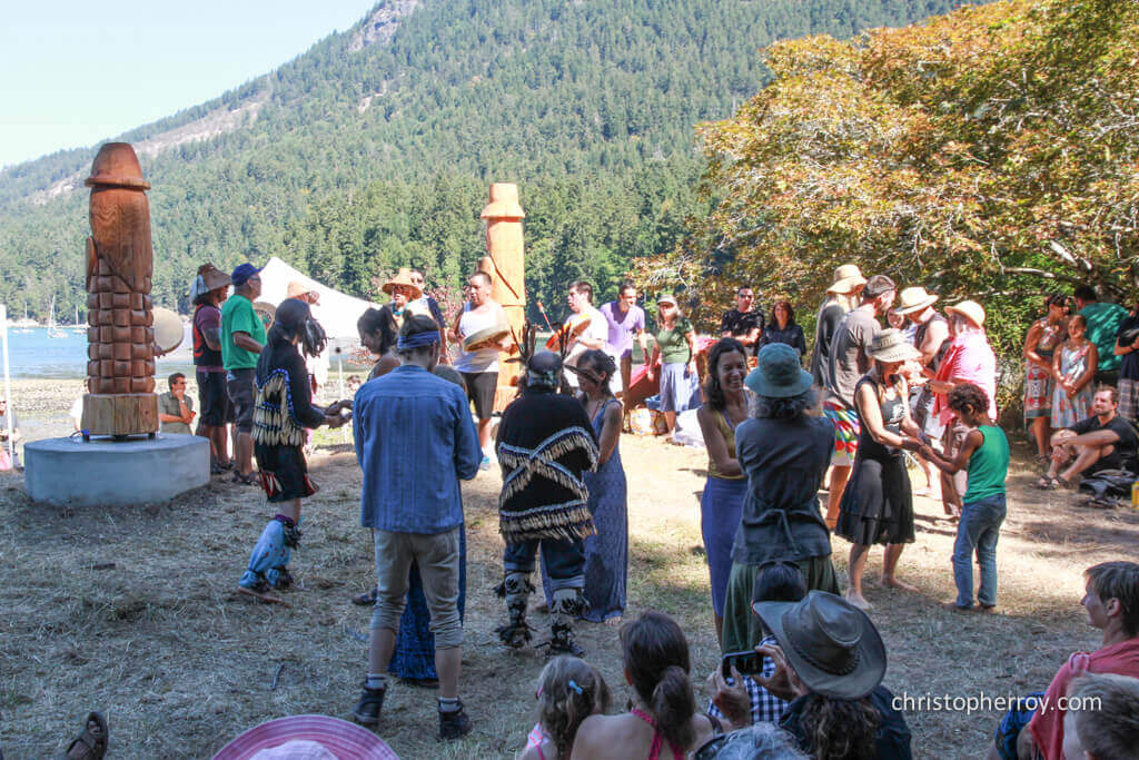 Salt Spring - 2016 Xwaaqw'um Burgoyne Bay Pole Raising Ceremony - 12