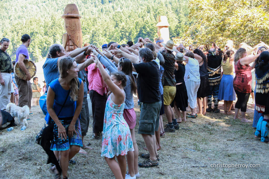 Salt Spring - 2016 Xwaaqw'um Burgoyne Bay Pole Raising Ceremony - 16