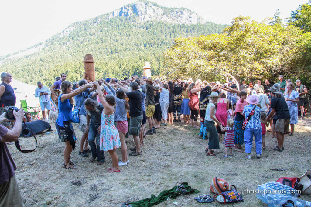 Salt Spring - 2016 Xwaaqw'um Burgoyne Bay Pole Raising Ceremony - 17