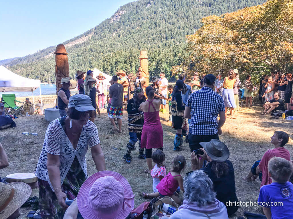 Salt Spring - 2016 Xwaaqw'um Burgoyne Bay Pole Raising Ceremony - 21