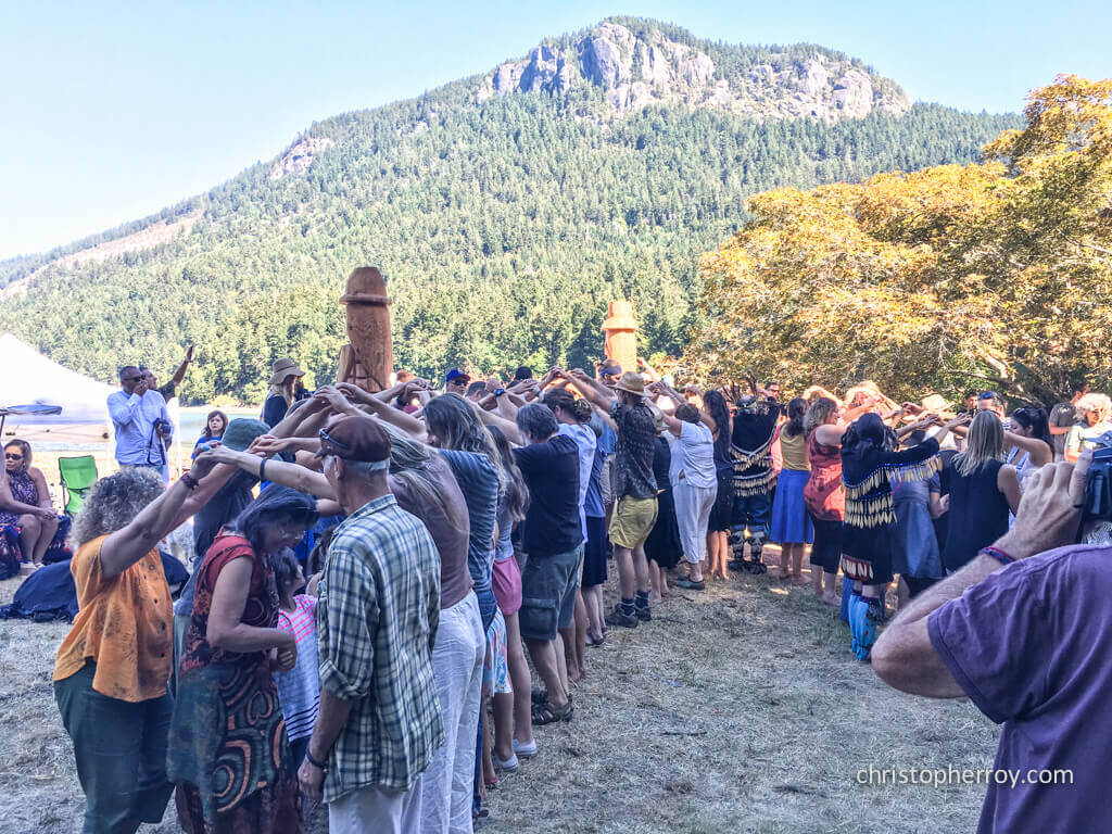 Salt Spring - 2016 Xwaaqw'um Burgoyne Bay Pole Raising Ceremony - 22