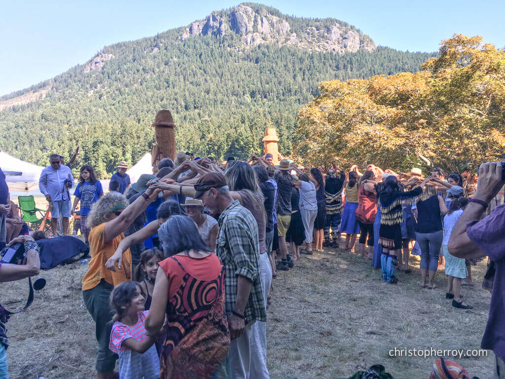 Salt Spring - 2016 Xwaaqw'um Burgoyne Bay Pole Raising Ceremony - 23