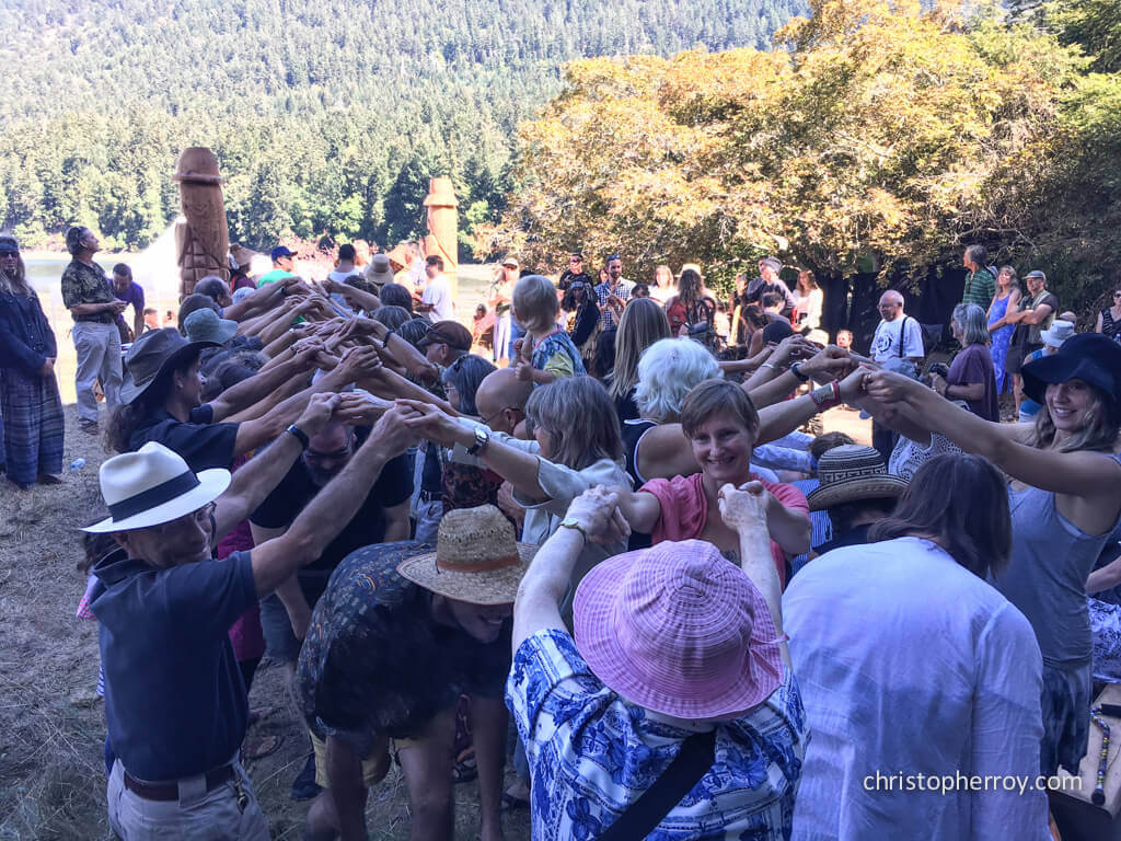 Salt Spring - 2016 Xwaaqw'um Burgoyne Bay Pole Raising Ceremony - 25